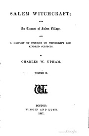 Cover of: Salem witchcraft; with an account of Salem village