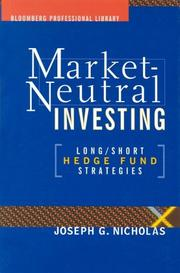 Cover of: Market Neutral Investing