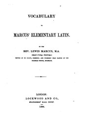 Vocabulary to Marcus Elementary Latin