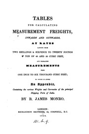 Cover of: Tables for calculating measurement freights |