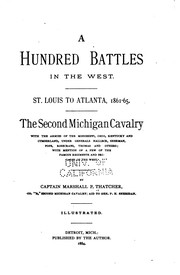 Cover of: A Hundred Battles in the West: St. Louis to Atlanta, 1861-65. The Second ... |