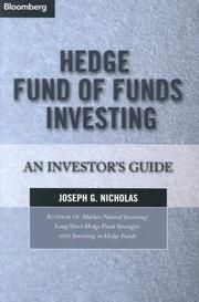 Cover of: Hedge Fund of Funds Investing