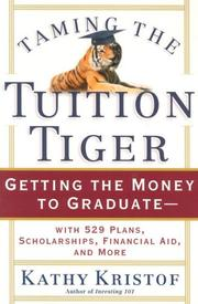 Cover of: Taming the Tuition Tiger