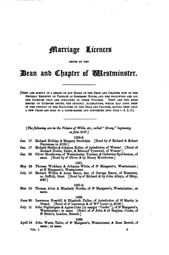 Allegations for Marriage Licences Issued by the Dean and Chapter of ... by Joseph Lemuel Chester , George John Armytage