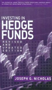 Cover of: Investing in hedge funds
