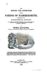 Cover of: The history and antiquities of the parish of Hammersmith