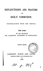 Cover of: Reflections and prayers for holy communion. Tr. from the Fr |