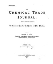 Cover of: The Chemical Trade Journal and Oil, Paint and Colour Review |
