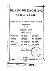 Cover of: Plain preaching for a year, ed. by E. Fowle |