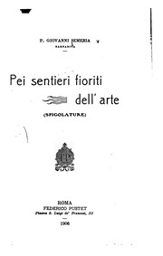 Cover of: Pei sentieri fioriti dell'arte. (Spigolature).