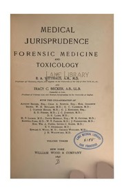 Cover of: Medical jurisprudence, forensic medicine and toxicology,. v. 4, 1896 |