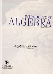 Cover of: Introductory algebra | D. Franklin Wright