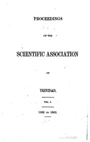 Cover of: Proceedings of the Scientific association of Trinidad. | Port of Spain Scientific association of Trinidad