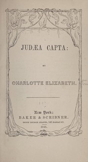 Cover of: Judæa capta | Charlotte Elizabeth