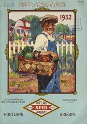 Cover of: Seed catalogue, 1932