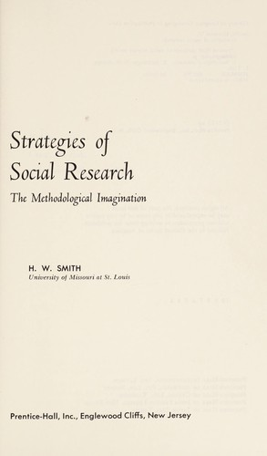 Strategies in Social Research by Smith (undifferentiated)