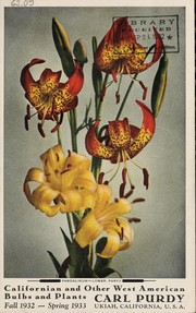 Cover of: Californian and other West American bulbs and plants