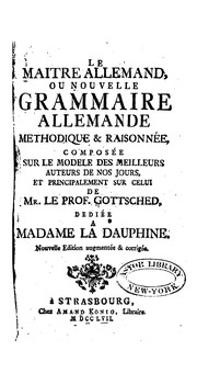 Cover of: Le Maitre allemand