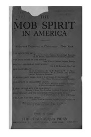 Cover of: The mob spirit in America. |