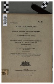 Cover of: Scientific memoirs by officers of the Medical and Sanitary Departments of the Government of ... |