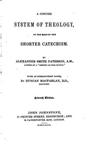 Cover of: A Concise System of Theology: On the Basis of the Shorter Catechism