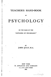 Cover of: Teacher's hand-book of psychology
