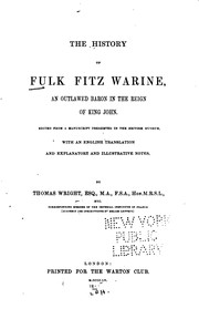 Cover of: The history of Fulk Fitz Warine
