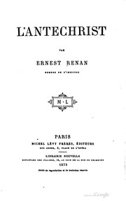 Cover of: L' Antechrist | Ernest Renan