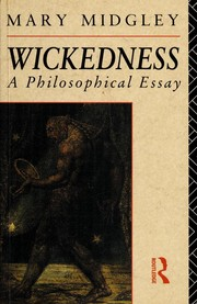 Cover of: Wickedness