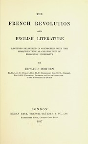 Cover of: The French Revolution and English literature