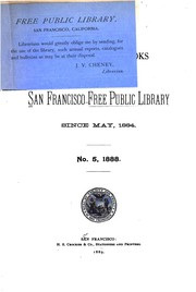 Cover of: Catalogue of the San Francisco free public library, short titles. | San Francisco Public Library.