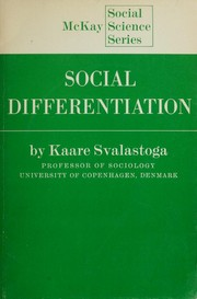 Cover of: Social differentiation