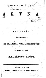 Cover of: Lucilii Junioris Aetna