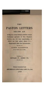 Cover of: The Paston letters 1422-1509 A.D.