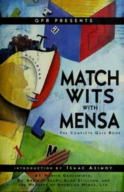 Cover of: Match Wits With Mensa Complete Quiz Book | Marvin Grosswirth