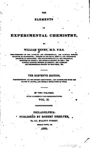 Cover of: The elements of experimental chemistry