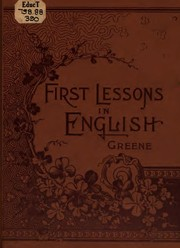 Cover of: First Lessons in English |