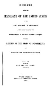 Cover of: The Abridgment ... Containing the Annual Message of the President of the United States to the ... |