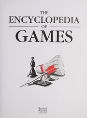 Cover of: Encyclopedia of Games Rules and Strategies | Brian Burns