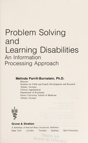 Cover of: Problem solving and learning disabilities | Melinda Parrill-Burnstein