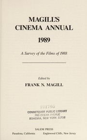 Cover of: Magill's Cinema Annual, 1989 | Frank N. Magill