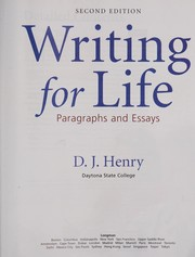 Cover of: Writing for life | D. J. Henry