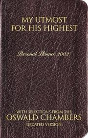 Cover of: My Utmost for His Highest Oswald Chambers Daily Planner - 2002