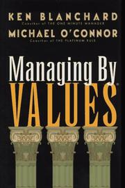 Cover of: Managing by values