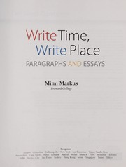 Cover of: Write time, write place | Mimi Markus