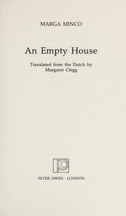 Cover of: An Empty House | Marga Minco