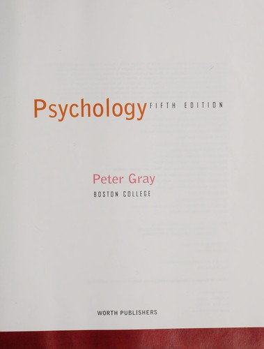 Psychology by Gray, Peter