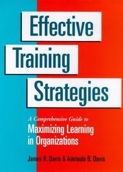 Cover of: Effective training strategies | Davis, James R.