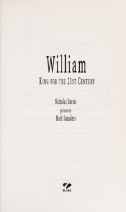 Cover of: William | Davies, Nicholas.