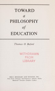 Toward a philosophy of education